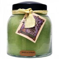 34 Oz. Papa Jar Candle- Sage & Citrus