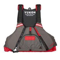 Yukon 13008-05-C-DR Epic Paddle Vest, Carbon & Deep Red - Large & Extra Large