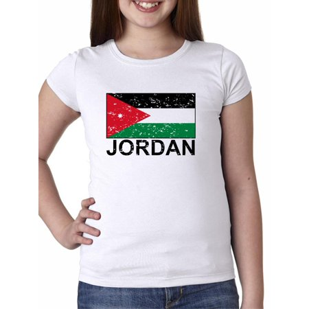 Jordan Flag - Special Vintage Edition Girl's Cotton Youth T-Shirt ()