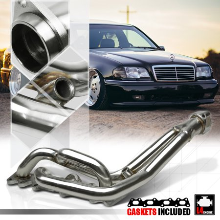 SS Exhaust Header Manifold for 95-06 Mercedes W202/W203 M111 I4 C220/C230/SLK230 96 97 98 99 00 01 02 (Best Exhaust For Mercedes)
