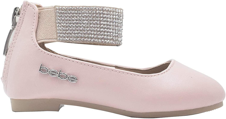 Girls Kids Glitter Ballet Flat Shoes Ballerina Strap Dress Rhinestone Mary Jane