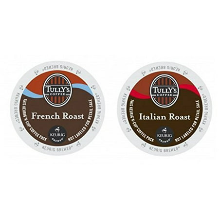 Tully's Coffee FRENCH & ITALIAN ROAST Variety Pack 48 K-Cups for Keurig Brewers (Tullys Italian Roast)