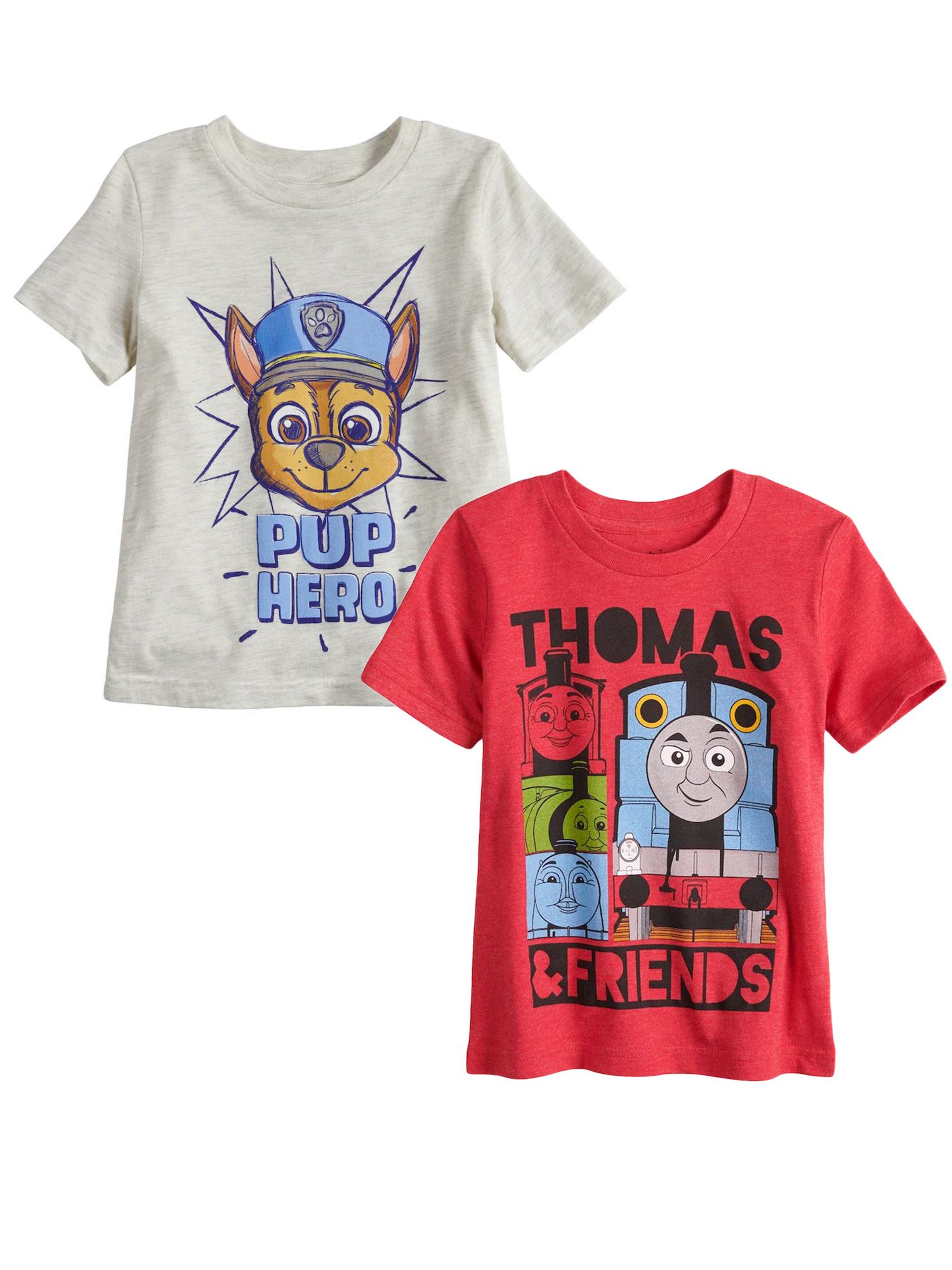 Toddler Boys Paw Patrol & Thomas The Tank Engine T-Shirts 2-Pack