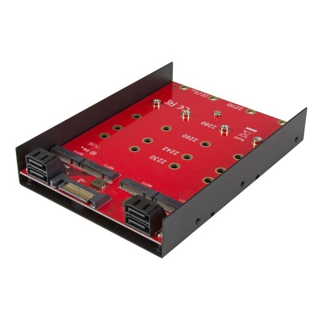 Startech 35S24M2NGFF 4 x M.2 SATA Mounting Adapter for 3.5in Drive Bay