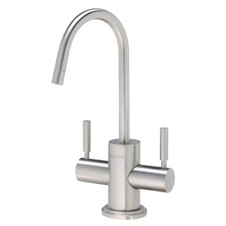 Pentair Everpure 2 Double Handle Kitchen Sink Filtration Faucet, Stainless (Everpure Designer Series Faucet)