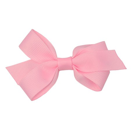 Reflectionz Girls Pink Solid Color Grosgrain Knotted Bow Hair - Halloween Hair Clippies