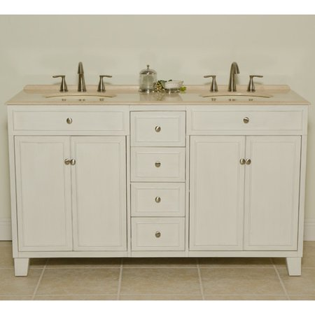 B I Direct Imports Janet 60 39 39 Double Bathroom Vanity Set Walmar