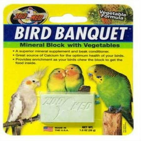 Zoo Med LIoratories BZMBBVS Bird Banquet VegetIle Mineral Block, Small