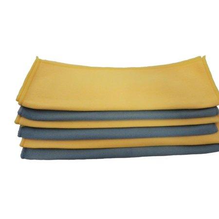 Microfiber Detailing Glass Polish Heavy Cloth Towel BLUE - 24-Pack, Heavy & Super soft plush microfiber cloth 12