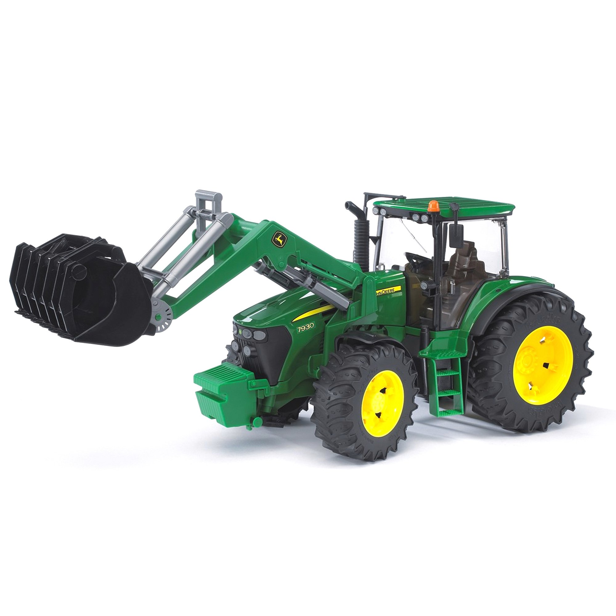 Bruder Toys Agriculture John Deere 7930 Plastic Tractor with Tipping Frontloader by Bruder Toys