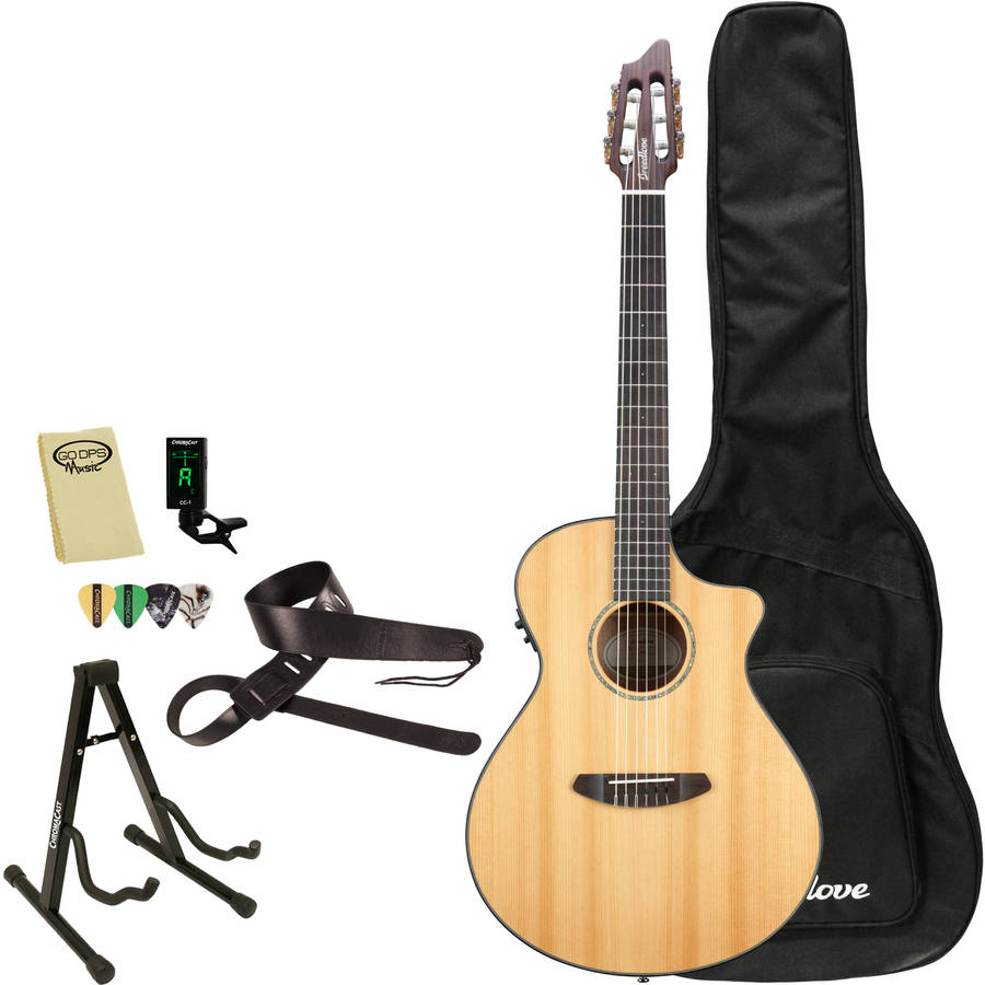 Breedlove Pursuit Nylon Acoustic Electric Guitar with Breedlove Gig Bag and ChromaCast Accessories