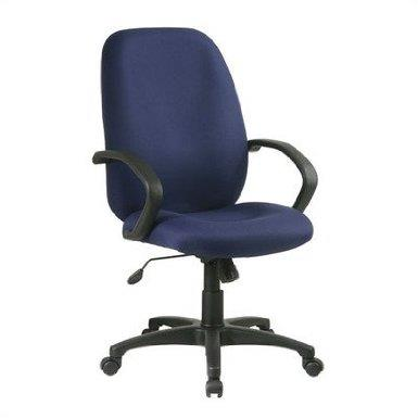 Work Smart Executive High Back Managers Chair with Fabric...