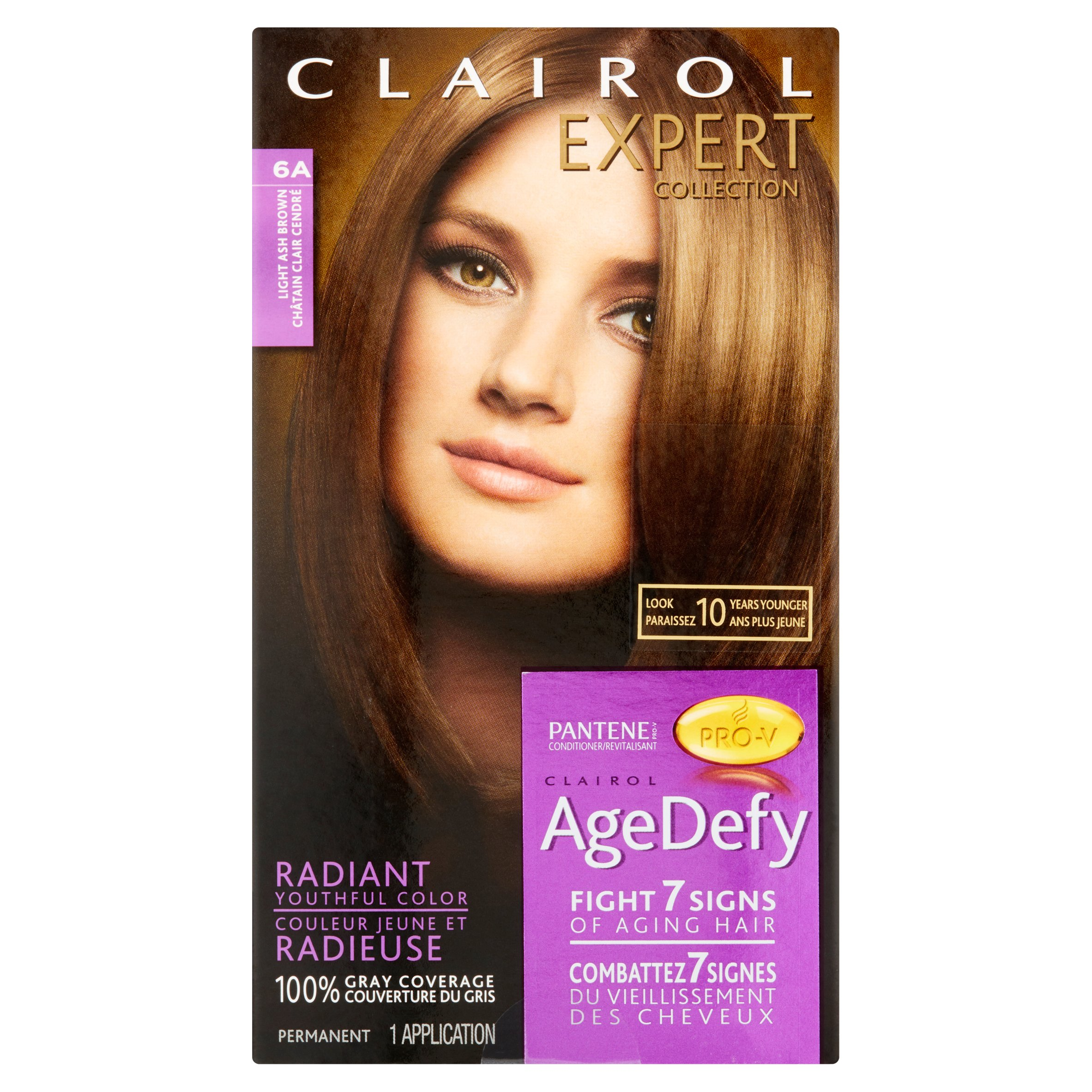 Clairol Expert Nice N Easy Age Defy Permanent Hair Color Kitr 6a Light Ash Brown Walmart Com Walmart Com