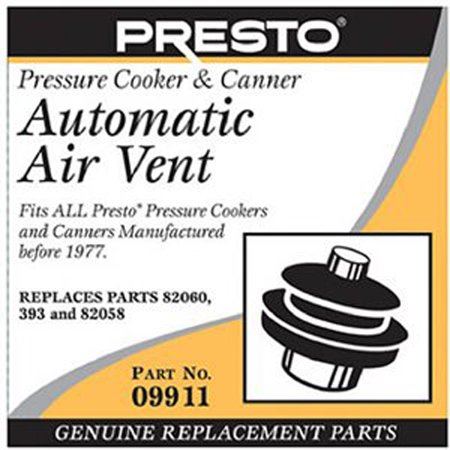 National Presto Ind 09911 Pressure Cook Auto Air Vent