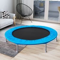 """45"""" Kids Outdoor Trampoline, BTMWAY Mini Trampolines with Safety Enclosure Net, Indoor/Outdoor Exercise Trampoline for Adults Kids, Small Foldable Child Jump Fitness Trampoline Exercise, Blue, R638"""