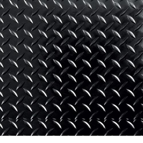 "G-Floor RaceDay Peel and Stick Tile with PSA, Diamond Tread, 12"" x 12"", Midnight Black, 20pc"