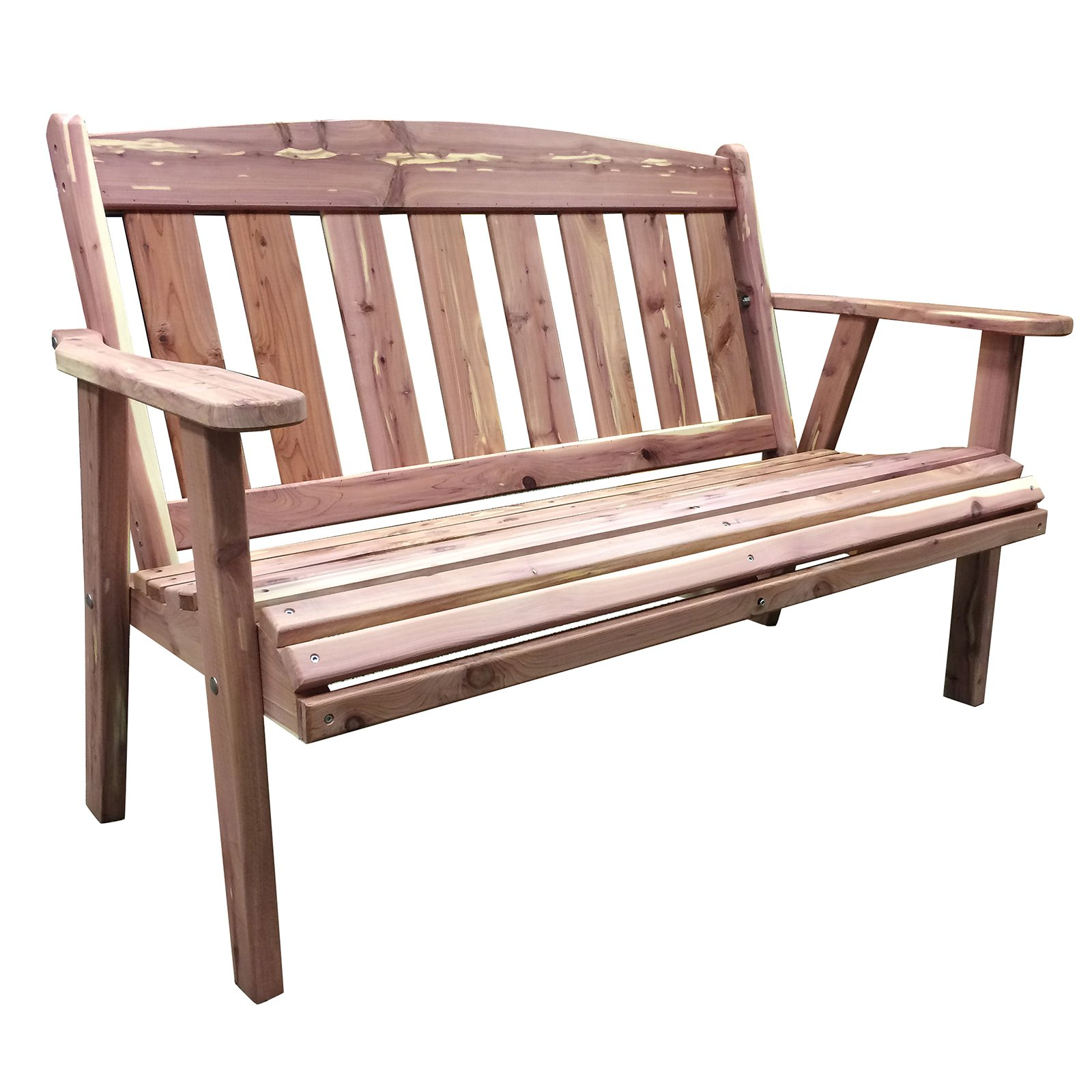 AmeriHome USA Amish Made 52.5 in. Cedar Outdoor Bench