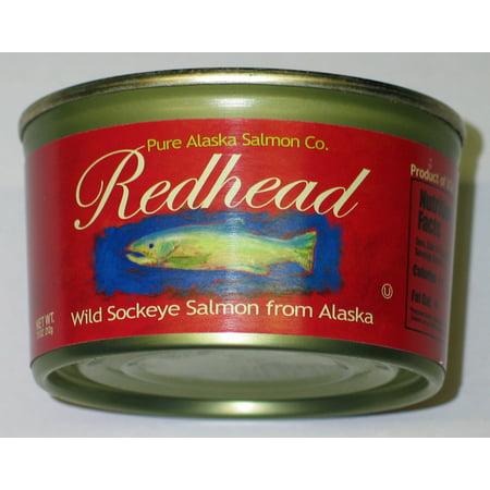 Canned Sockeye Salmon (Pure Alaska Salmon Co. Redhead Wild Sockeye Salmon, 6.5 oz)