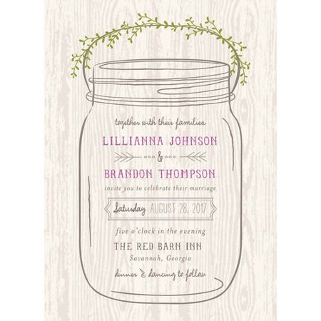 Mason Jar Standard Wedding Invitation