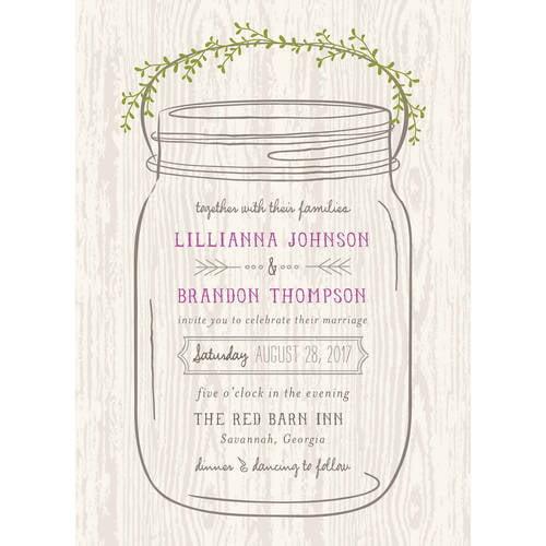 Wedding Gifts At Walmart: Mason Jar Standard Wedding Invitation