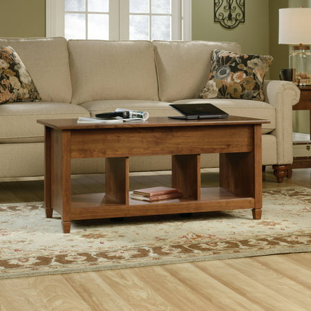 Red Rustic Coffee Table (Sauder Edge Water Lift Top Coffee Table, Multiple Finishes )