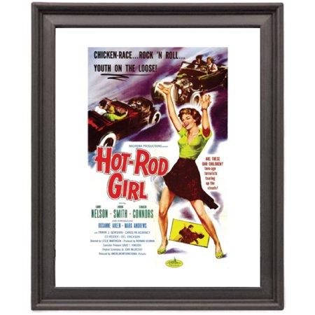 Hot rod girl - Picture Frame 8x10 inches - Poster - Print