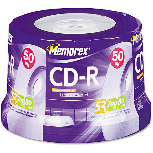 Memorex 52x Write-Once CD-R Spindle - 50 Disc Spindle