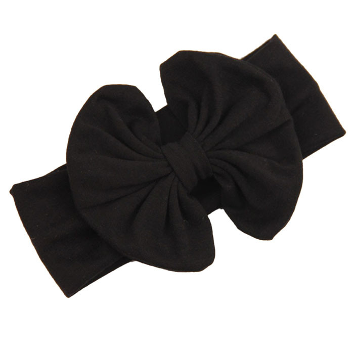 Outtop 2015 Big Bowknot Baby Girls Cotton Headband Children Kids Head Wraps Accessories