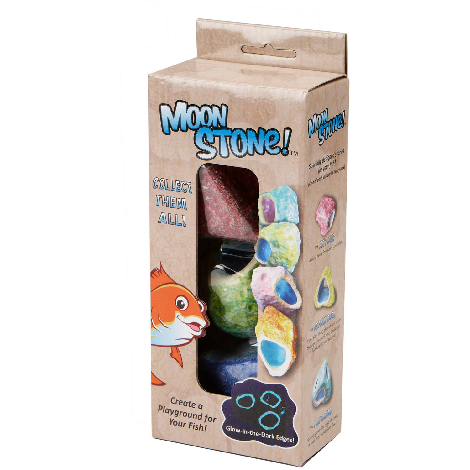 Glowing Ceramic Moon Stone, 3-Pack