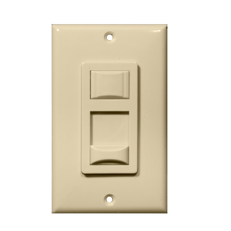 Morris Products Fluorescent Single Pole Dimmer in Ivory