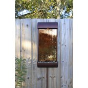 Vale 33 Inch Height Oil Rubbed Bronze with Copper Mirror Outdoor Wall Fountain