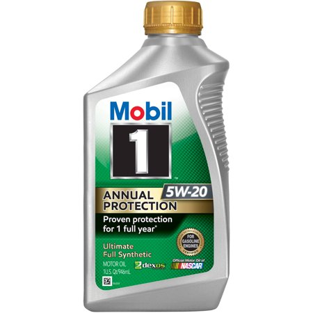 Mobil 1 Annual Protection Full Synthetic Motor Oil 5W-20, 1 Quart