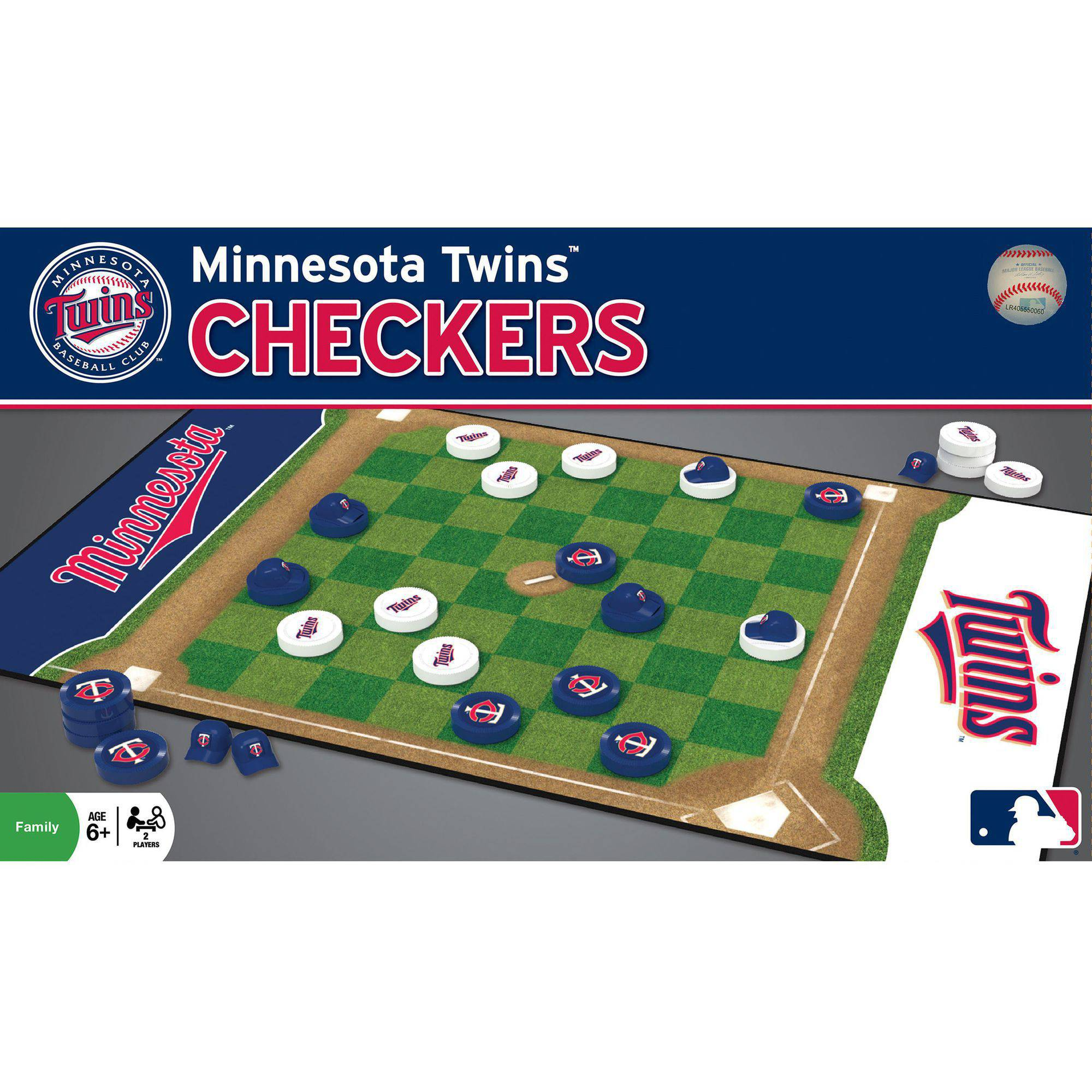 MasterPieces MLB Minnesota Twins Checkers Game
