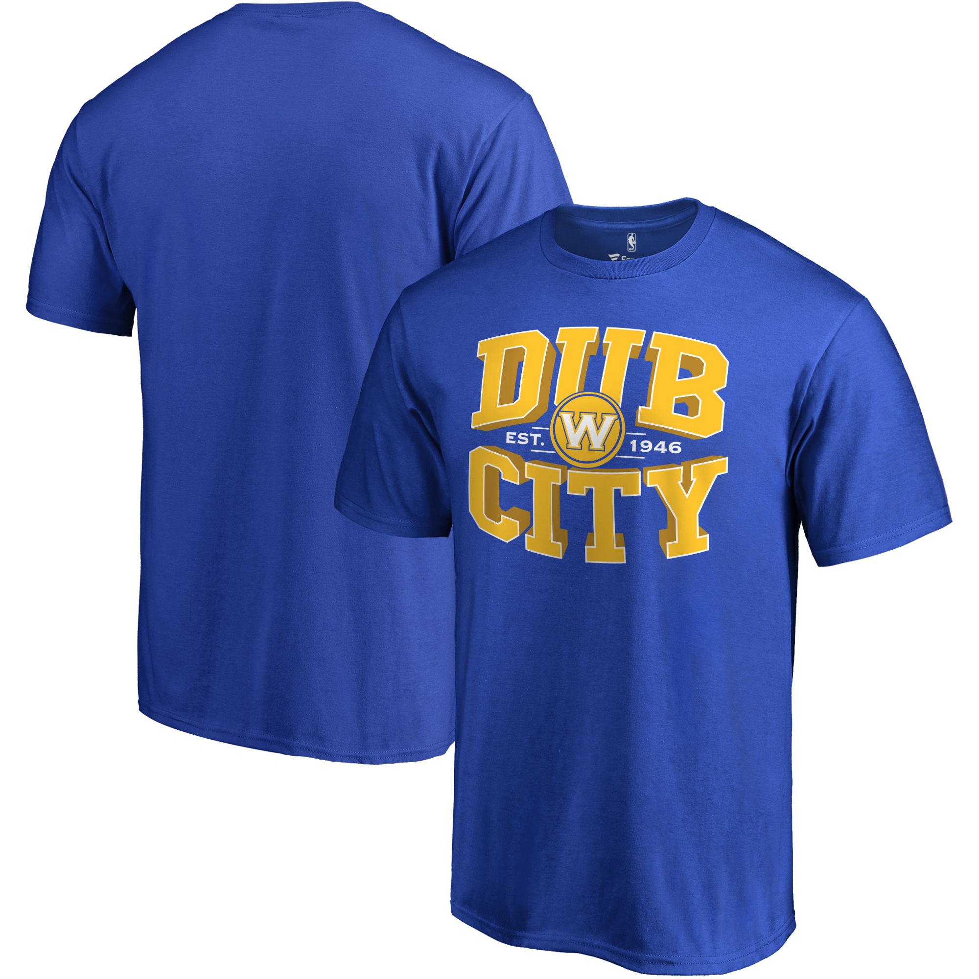 Golden State Warriors Fanatics Branded Hometown Collection Dub City T-Shirt - Royal