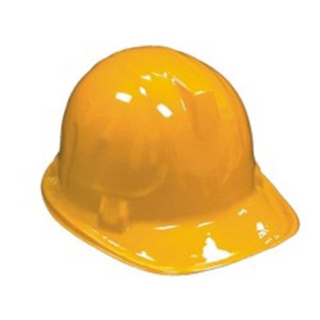 Childrens Yellow Plastic Construction Hard Hats - 6 Pack