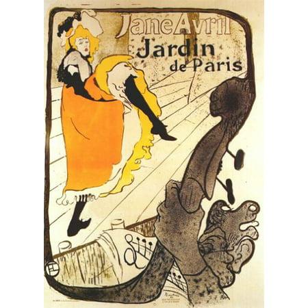 - (22X28) Henri De Toulouse-Lautrec (Jardin De Paris, Jane Avril) Art Poster Print New