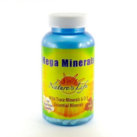Nature's Life Mega Minerals -- 250 Vegetarian (Vegetarian Mega Vitamin)