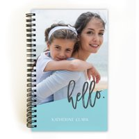 Modern Hello - Personalized 5 x 8 Notebook