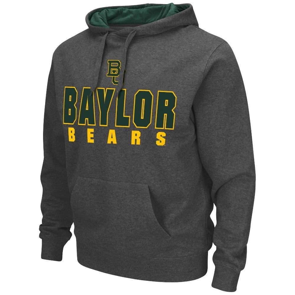Mens NCAA Baylor Bears Pull-over Hoodie (Heather Charcoal) - 2XL, Pull-over Hoodie. Fabric: 70% Cotton / 30% Polyester. Application: Tackle Twill /.., By Colosseum Ship from US