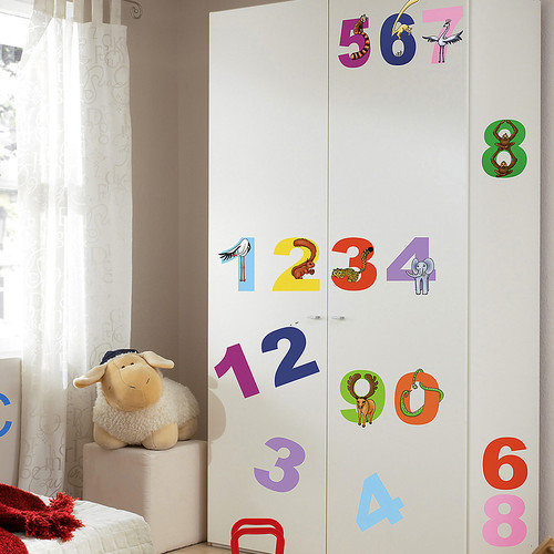 Brewster Home Fashions Euro Numbers Wall Decal