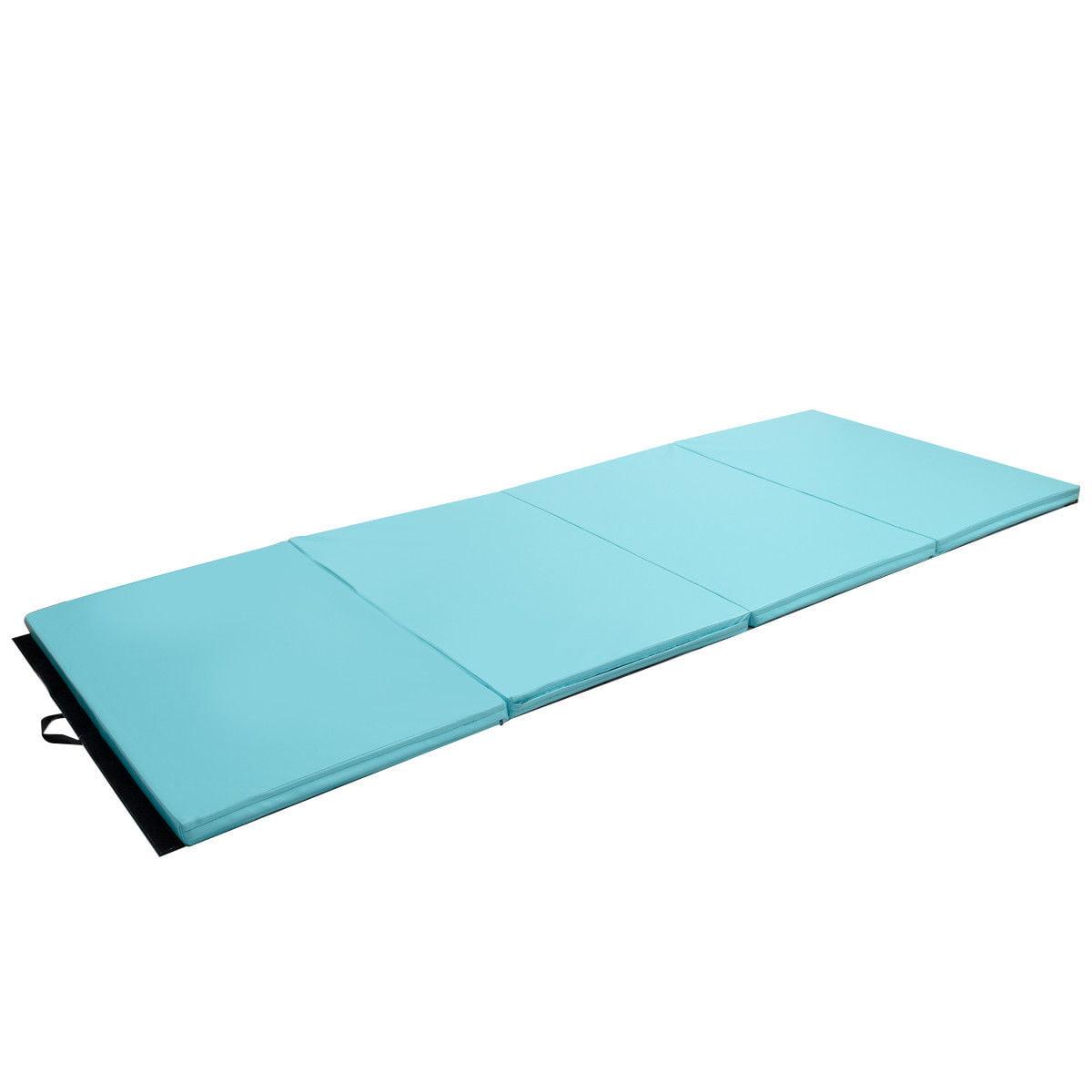 "4'x10'x2"" Gymnastics Mat Thick Folding Panel Aerobics Exercise Gym Fitness Blue - image 1 de 8"