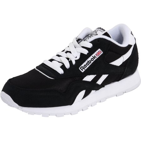 Reebok J21506  Kids  Classic Nylon Fashion Black White Sneaker (BLACK WHITE d52aa02d5