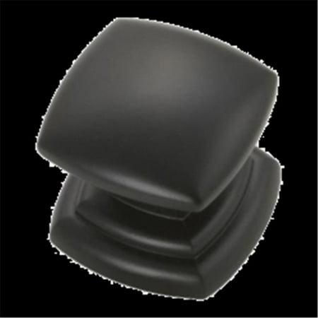 Belwith BWP3181 MB 1.25 in. Square Corinth Knob - Matte Black