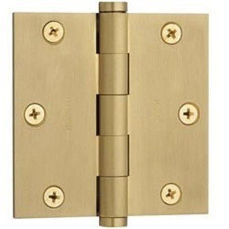 Baldwin 1035040I Square Mortise Hinge, Satin Brass