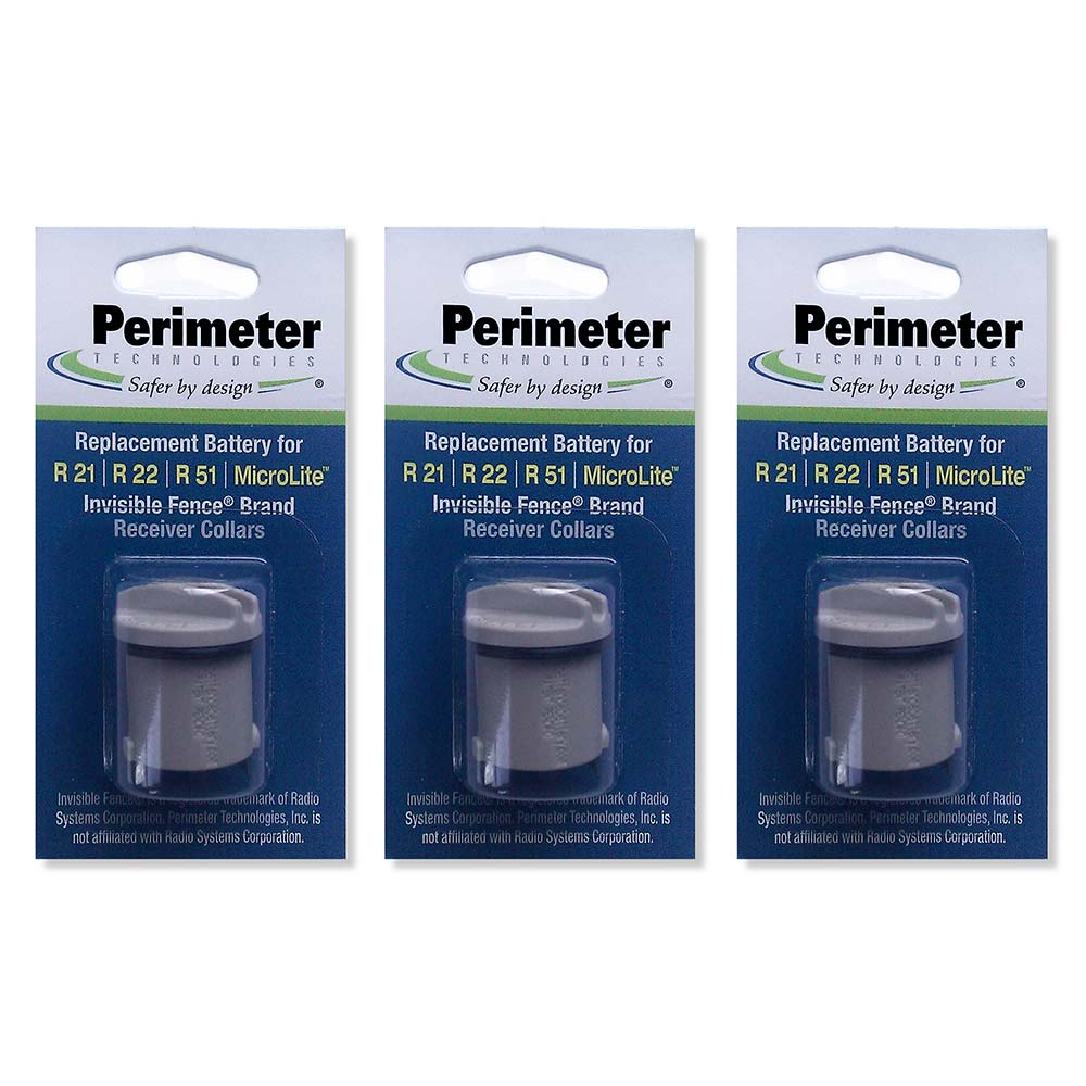 Perimeter Technologies Invisible Fence Compatible R21 and R51 Dog Collar Battery Year Supply