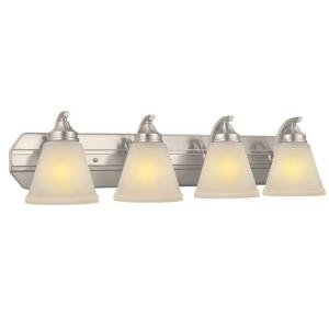 Hampton Bay 4-Light Brushed Nickel Bath Light #261568 by The Home Depot