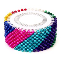 480Pcs Multicolor Round Head Dressmaking Pearl Sewing Straight Pins SPECIAL TODAY !