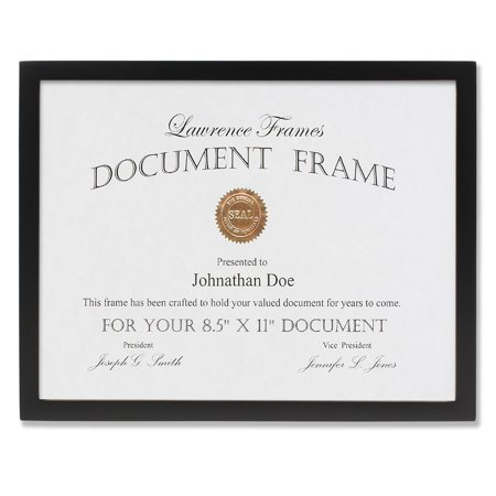 Contemporary Gallery Collection (8.5x11 Black Wood Certificate Picture Frame - Gallery)