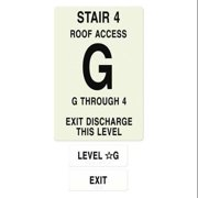 INTERSIGN NFPA-PVC1812-X(4GA4) NFPASgn,StairId4,RoofAccssA,FlrsSrvd1to4