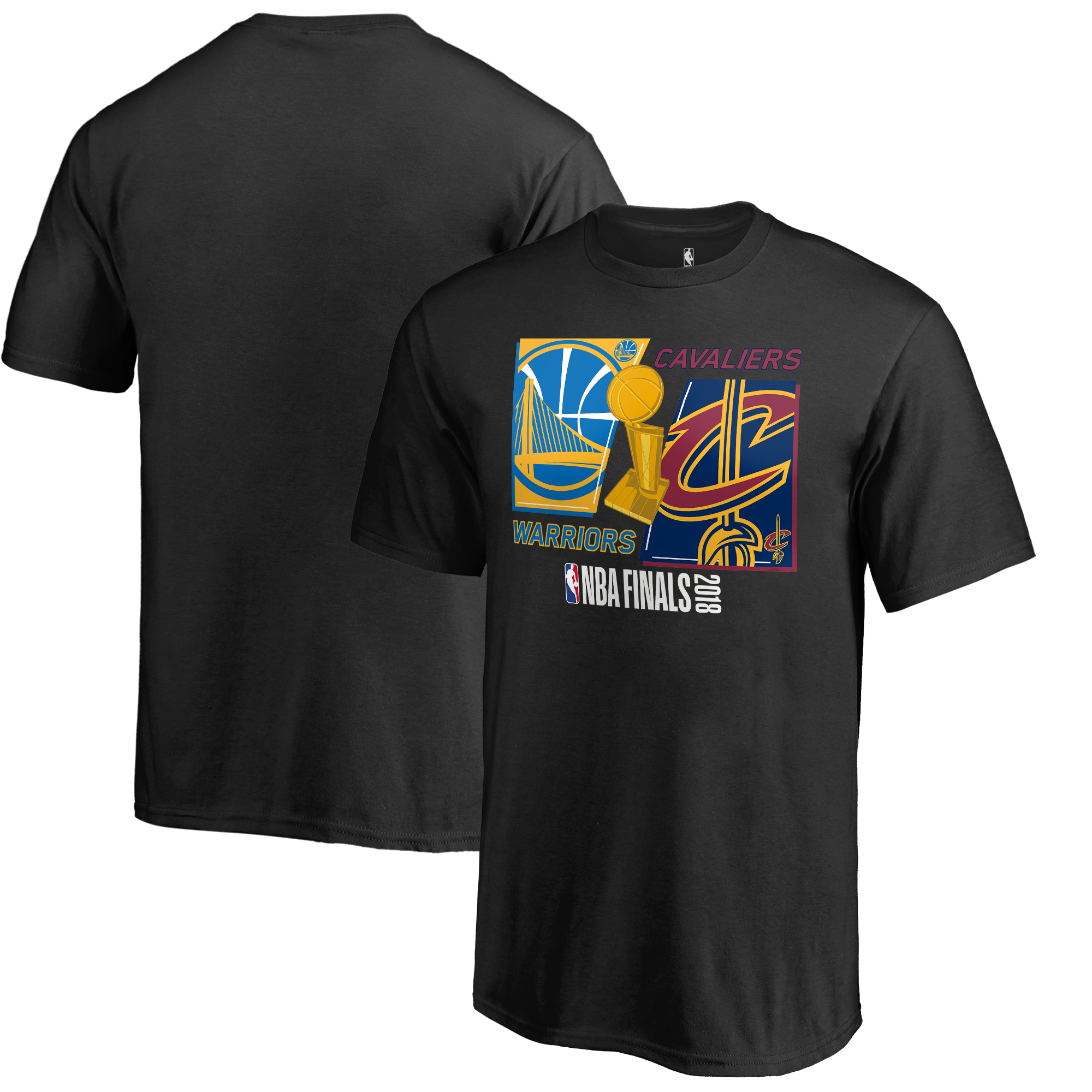 Golden State Warriors vs. Cleveland Cavaliers Fanatics Branded Youth 2018 NBA Finals Bound Dueling Over and Back T-Shirt - Dark Gray